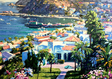 Catalina Island Embellished   Too high Limited Edition Print by Howard Behrens