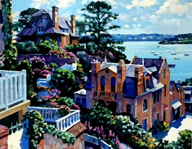 Dinard 1992 Heavily Artist Embellished Limited Edition Print by Howard Behrens