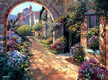 Beyond the Garden Wall Limited Edition Print - Howard Behrens