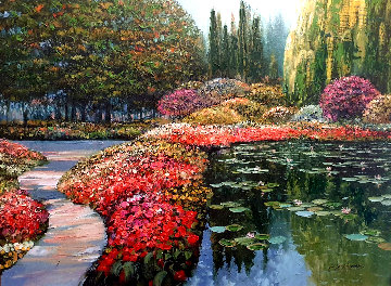 Colors of Giverny 2010  Embellished Limited Edition Print - Howard Behrens