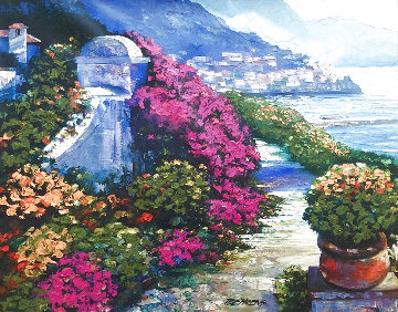 Near The Amalfi Coast 2006 Embellished Limited Edition Print - Howard Behrens