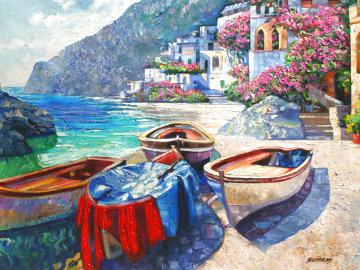 Memories of Capri AP 2009 Heavily Embellished Limited Edition Print - Howard Behrens