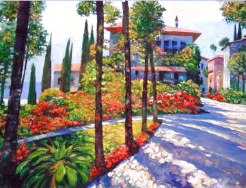 Via Varenna 2007 Huge and Heavily Embellished Super Huge Limited Edition Print - Howard Behrens
