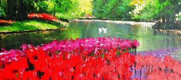 Keukenoff II 2009 27x47 Original Painting - Howard Behrens