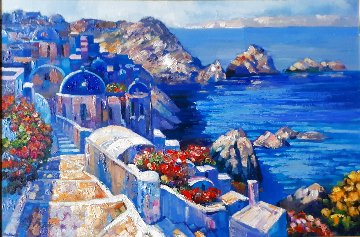 Along the Caldera 2007 32x42 Original Painting - Howard Behrens