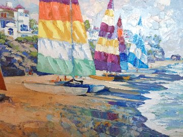 Summer Sails 1989 Heavily Embellished Limited Edition Print - Howard Behrens