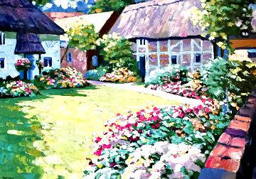 English Garden AP 1989 Super Huge Limited Edition Print - Howard Behrens