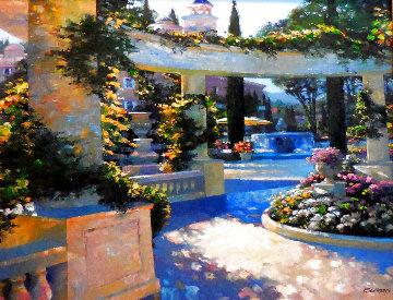 Bellagio Garden 2001 Embellished Limited Edition Print - Howard Behrens