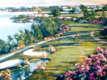 18th Fairway At Castle Harbor 1990 Limited Edition Print - Howard Behrens
