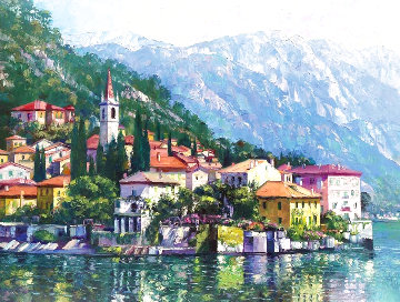 Reflections of Lake Como 2003 Limited Edition Print - Howard Behrens