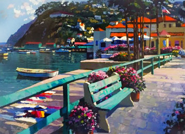 Catalina Promenade 1998 AP Limited Edition Print - Howard Behrens