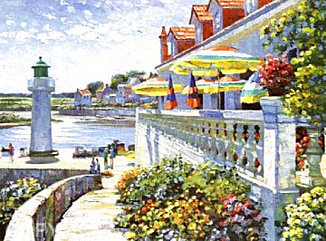 Lighthouse At Sazon 1990 Limited Edition Print - Howard Behrens