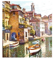 Hidden Cove - Lake Como 2002 Limited Edition Print by Howard Behrens - 1