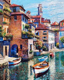 Hidden Cove - Lake Como 2002 Limited Edition Print - Howard Behrens