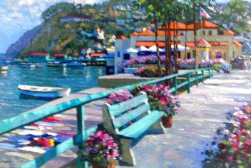 Catalina Promenade AP 1995 Huge Limited Edition Print - Howard Behrens
