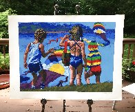 Kids And Kites 1982 Limited Edition Print by Howard Behrens - 1