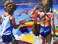 Kids And Kites 1982 Limited Edition Print by Howard Behrens - 2