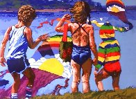 Kids And Kites 1982 Limited Edition Print by Howard Behrens - 0