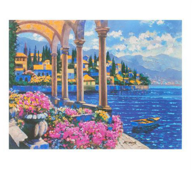 Villa On Lake Como, Italy 2008 Embellished Limited Edition Print by Howard Behrens