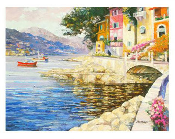 Antibes Remembered (France) 2007 Embellished Limited Edition Print by Howard Behrens
