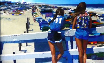 Daytona Beach, Florida 1979 30x48 Original Painting - Howard Behrens