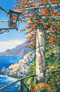 Overlooking Amalfi AP 2003 Limited Edition Print - Howard Behrens