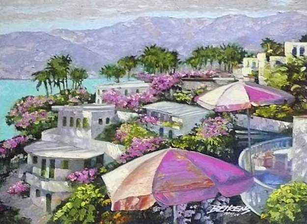 Acapulco Memories, Mexico 2008 Embellished Limited Edition Print by Howard Behrens