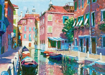 Venetian Canal, Italy 1990 Limited Edition Print - Howard Behrens