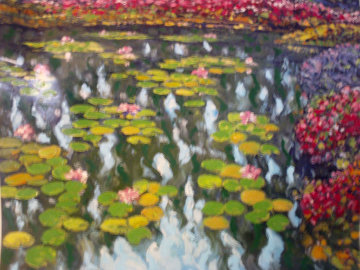 Tribute to Monet: Pond in Bloom Limited Edition Print - Howard Behrens