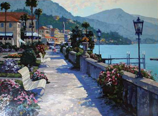 Bellagio Promenade, Italy 1990 Limited Edition Print by Howard Behrens