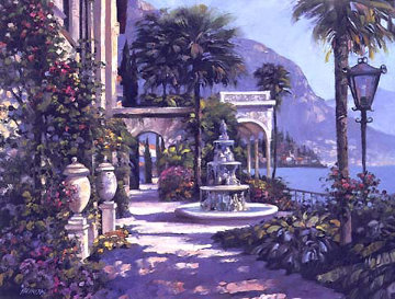 Varenna Villa 2001 Embellished Limited Edition Print - Howard Behrens