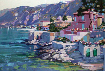 Riviera 1987 Embellished Limited Edition Print by Howard Behrens