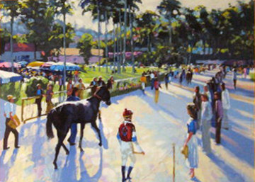 Day At the Races 1991 Limited Edition Print by Howard Behrens