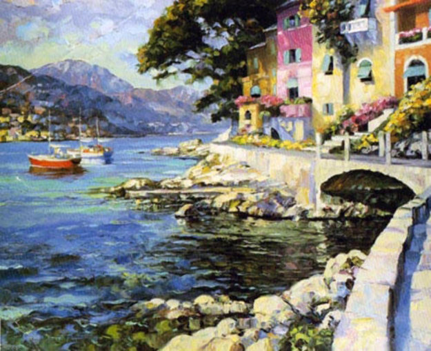 Antibes, France 1990 Limited Edition Print by Howard Behrens