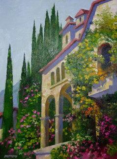 Villa in Venice (Italy) 30x24 Original Painting - Howard Behrens