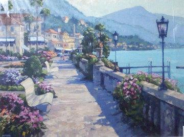 Bellagio Promenade 1991, Italy Limited Edition Print by Howard Behrens