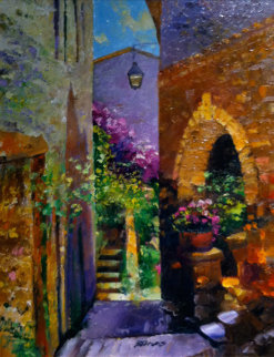Florals of Eze 2006 24x38 Original Painting - Howard Behrens