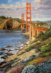 Golden Gate Bridge, San Franciso, Ca  49x36 Original Painting - Howard Behrens