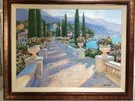 Lake Como Vista, Italy 2002 39x49 Super Huge Original Painting by Howard Behrens - 1