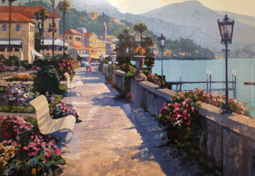 Belagio Promenade, Italy 1991 Limited Edition Print by Howard Behrens