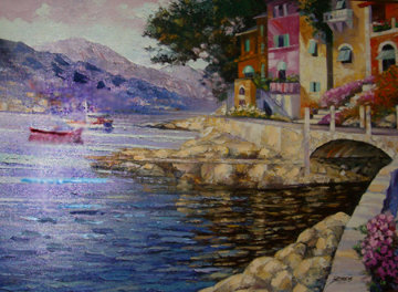 Antibes Remembered (France) Embellished Limited Edition Print - Howard Behrens