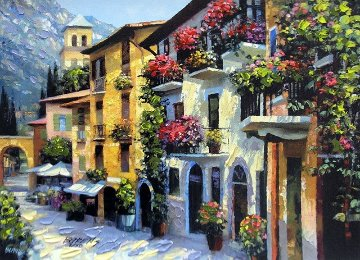 Village Hideaway AP 2000 Embellished Limited Edition Print - Howard Behrens