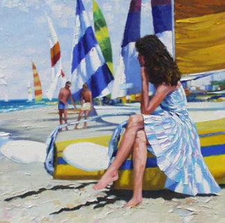 Before Sailing 44x44 Huge Original Painting - Howard Behrens