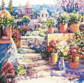 Domes of Mexico 2011 Embellished Limited Edition Print - Howard Behrens