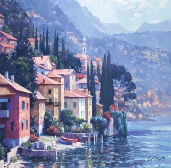 Impressions of Lake Como 2010, Italy Embellished Limited Edition Print by Howard Behrens