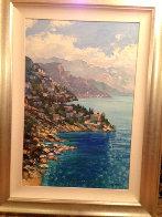 Looking Forward Amalfi, 2005 46x34 (Italy) Super Huge Original Painting by Howard Behrens - 1