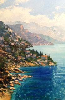 Looking Forward Amalfi, 2005 46x34 (Italy) Super Huge Original Painting - Howard Behrens