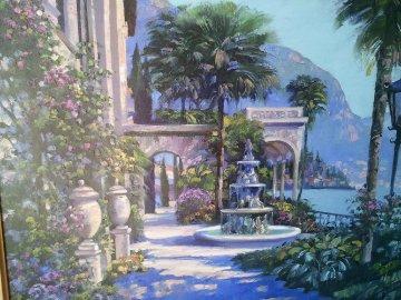 Varenna Villa 2001 Embellished Limited Edition Print by Howard Behrens