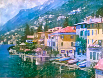 Lake Como, Italy 2007 Embellished Limited Edition Print - Howard Behrens