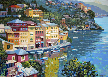 Harbor View 1995 Embellished Limited Edition Print - Howard Behrens